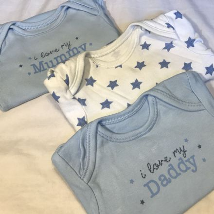 3-6 Month Mummy Daddy Bodysuits